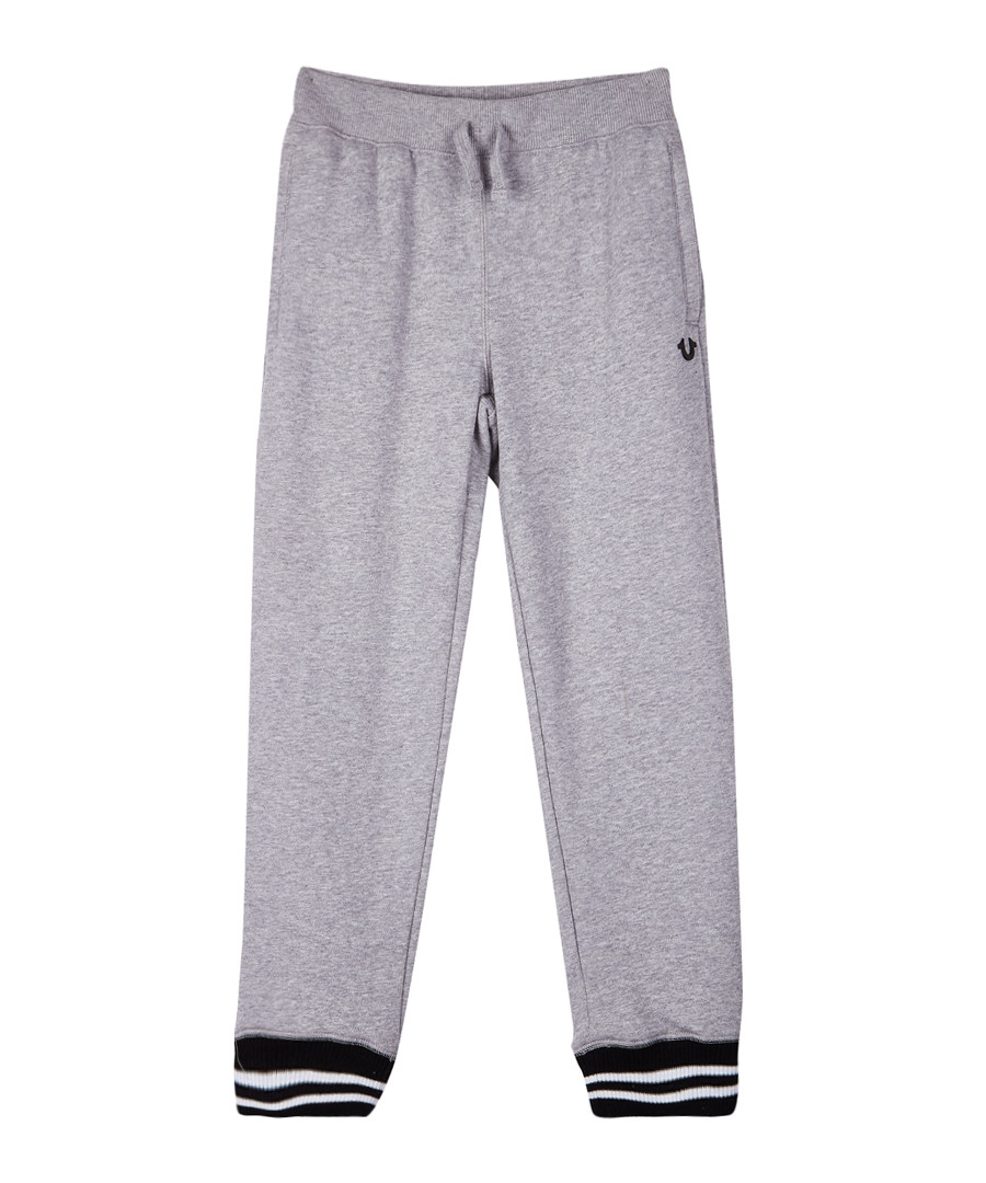Kids' grey cotton blend joggers Sale - true religion
