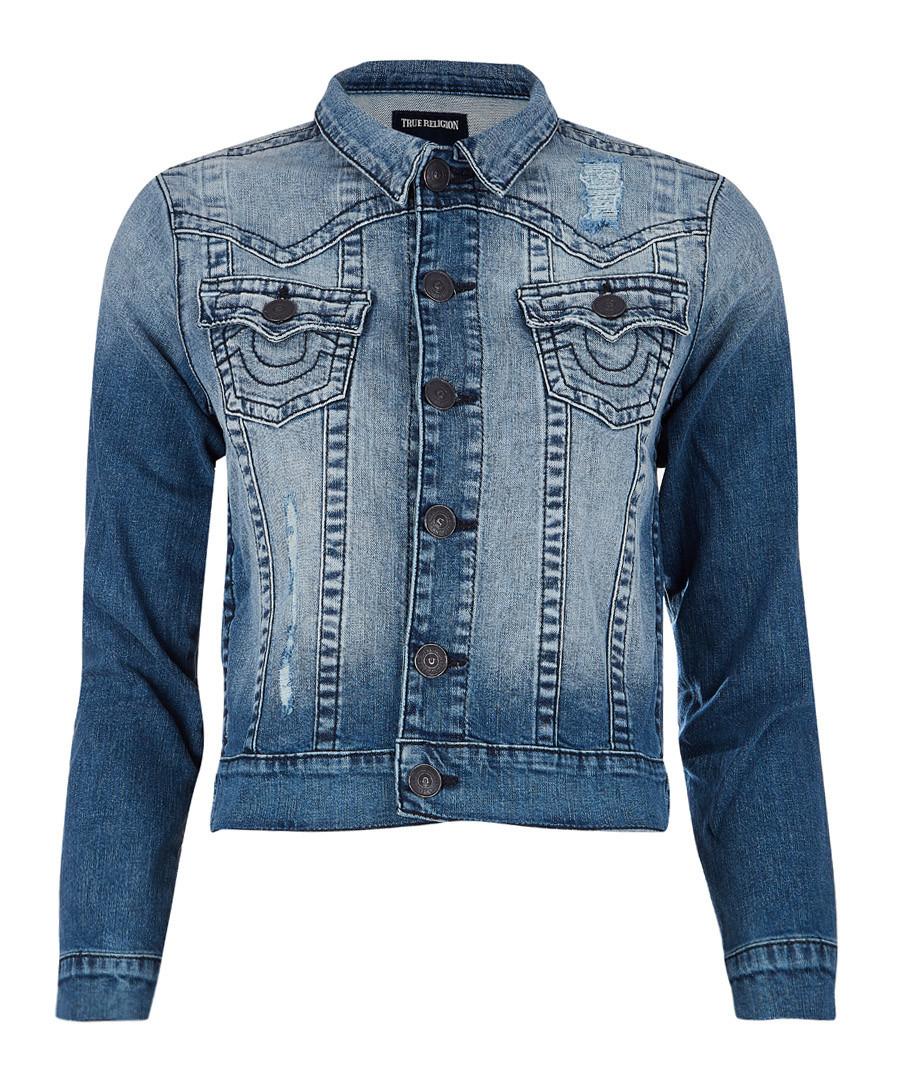 Boys' indigo cotton jacket Sale - true religion