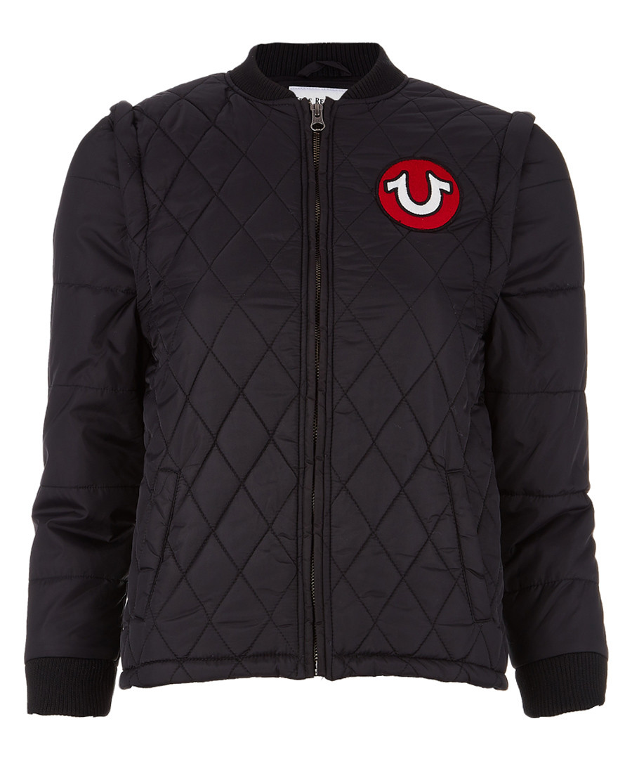Boys' black quilted jacket Sale - true religion