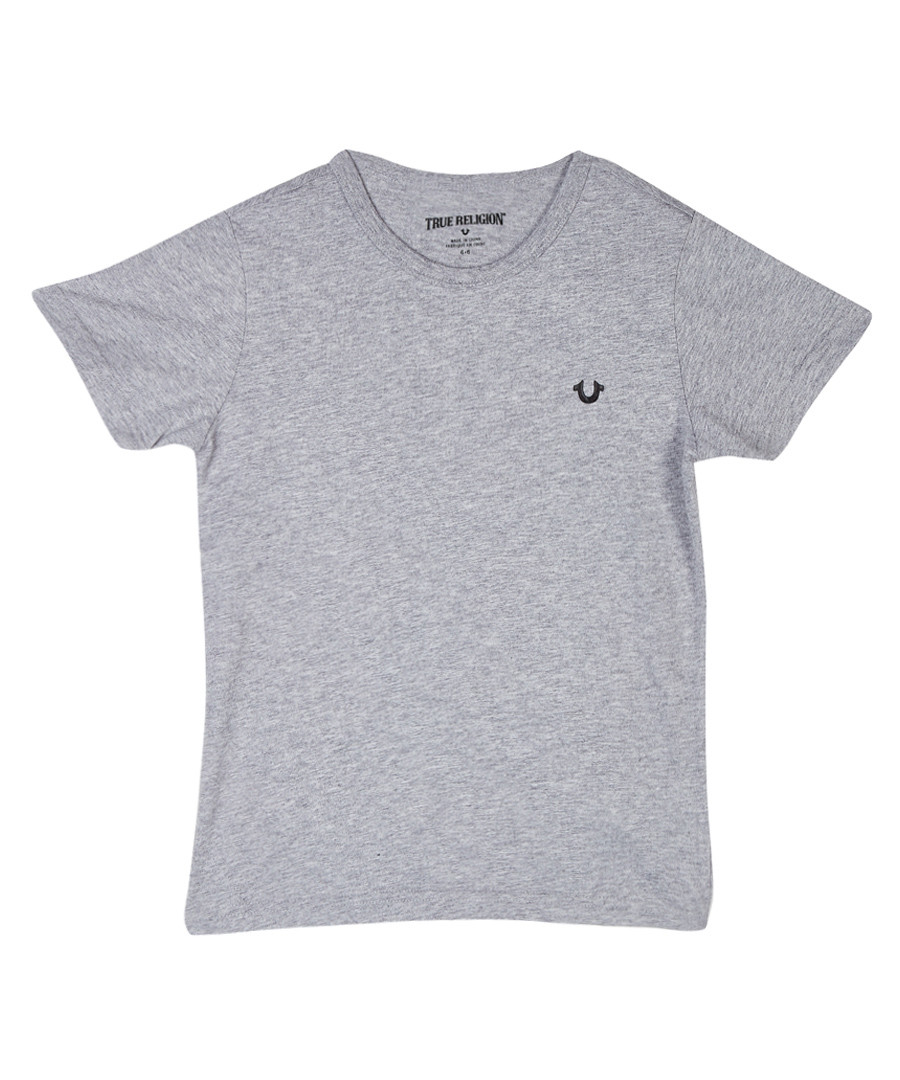 Boys' grey cotton T-shirt Sale - TRUE RELIGION