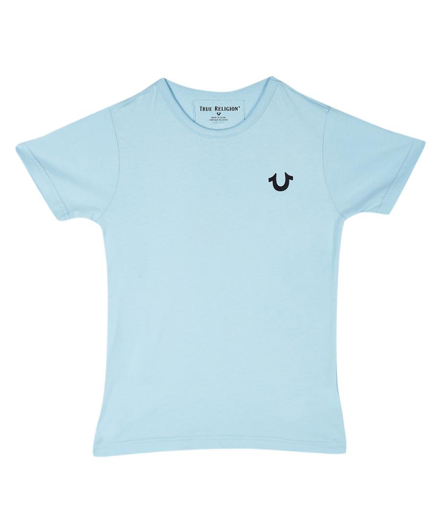 Kids' light blue cotton T-shirt Sale - true religion