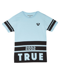 Kids' light blue cotton T-shirt