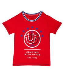 Boys' red cotton T-shirt