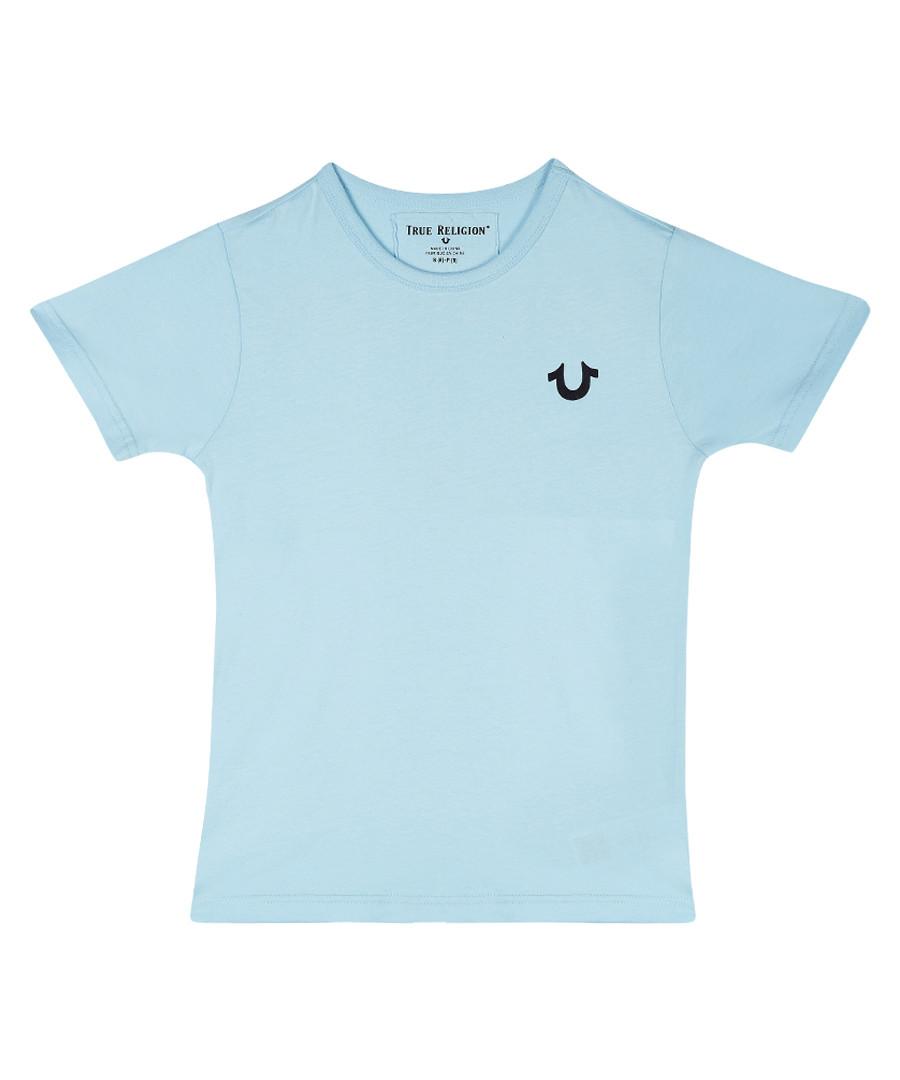 Boys' light blue cotton T-shirt Sale - true religion