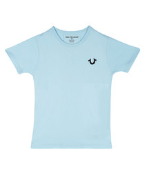 Boys' light blue cotton T-shirt