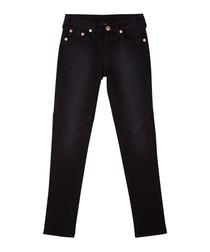 Girls' indigo cotton jeans