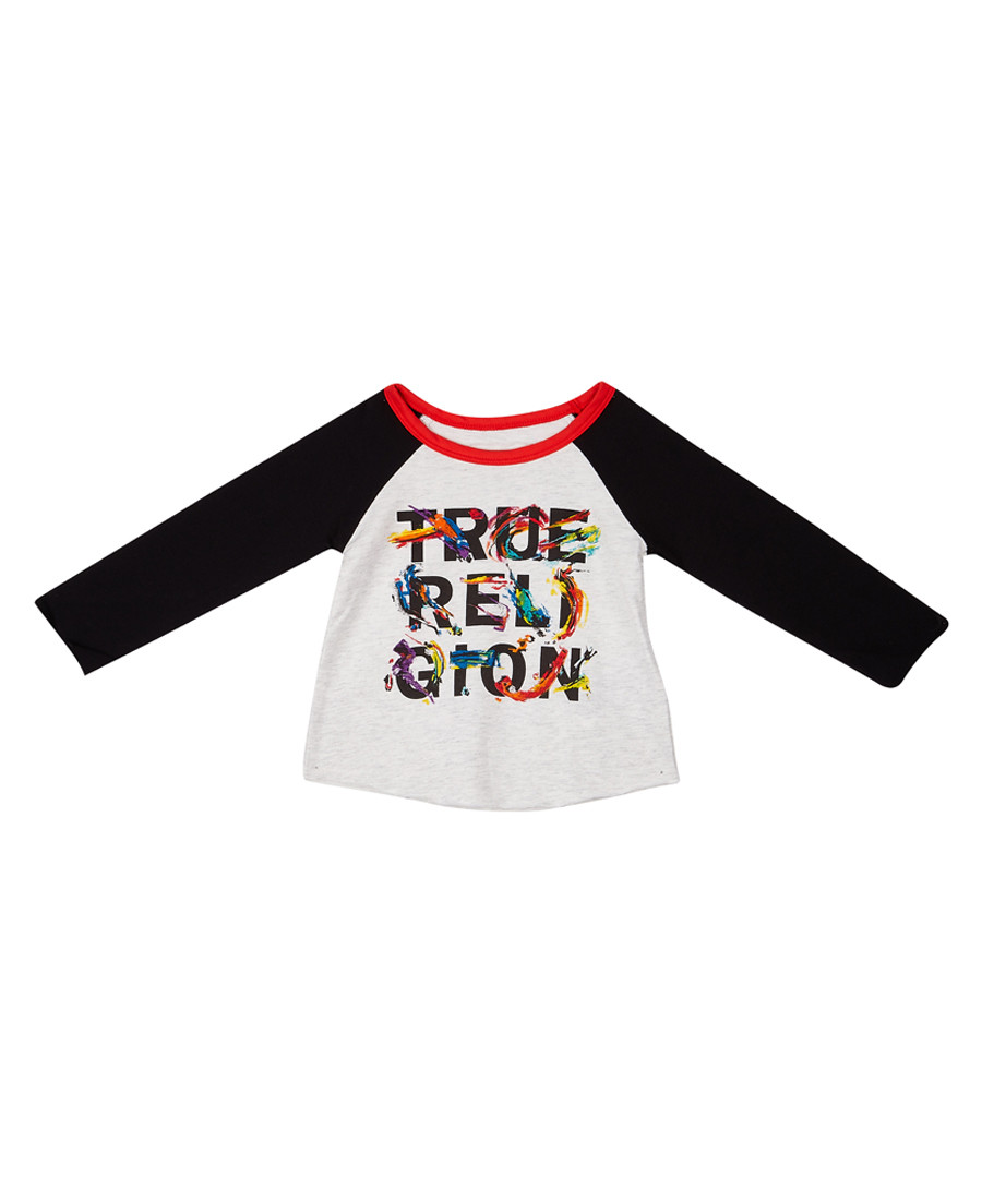 Girls' white slogan long sleeve top Sale - true religion