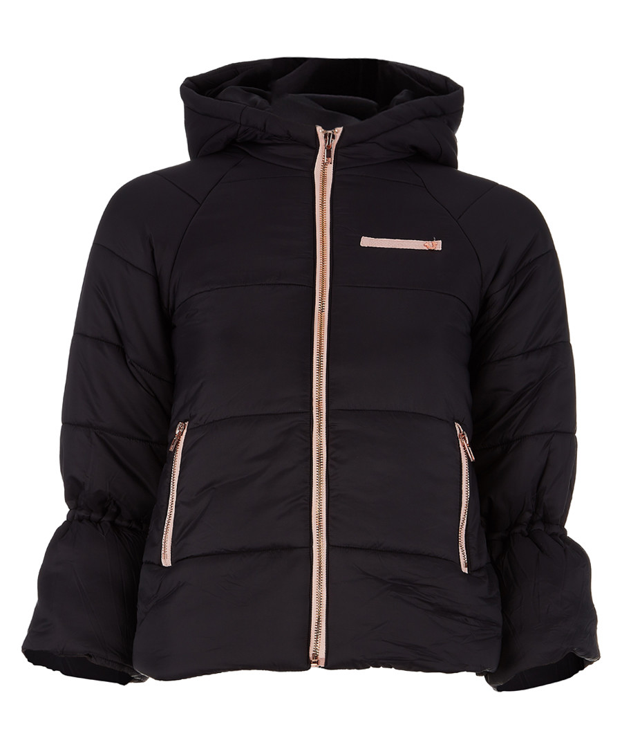 Girls' black quilted jacket Sale - true religion