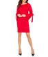 Red flute-sleeve bow dress Sale - bergamo Sale