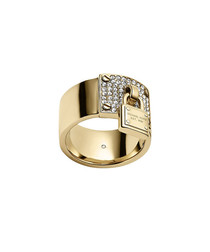 Gold-tone steel crystal lock ring
