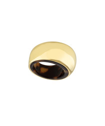 Gold-tone steel tortoiseshell ring