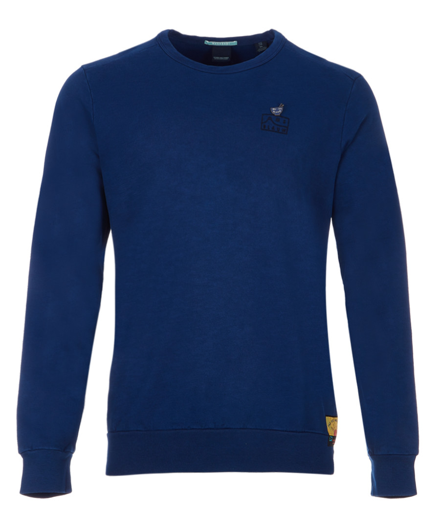 Navy crew neck sweatshirt Sale - Scotch and Soda