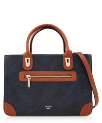 Duckton navy & tan grab bag