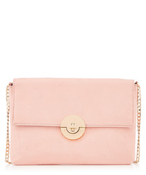 Cindy pale pink classic clutch bag