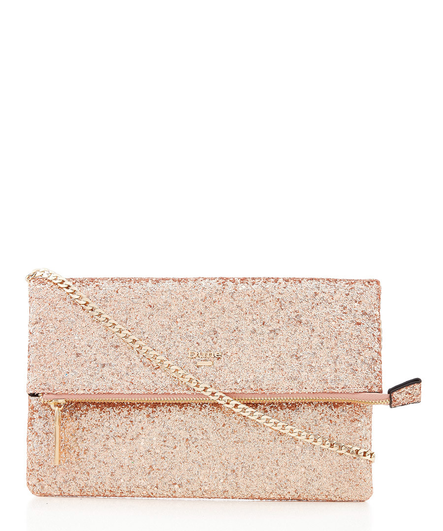 Bex gold-tone glitter clutch bag Sale - dune
