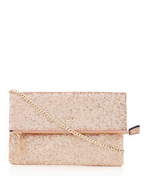 Bex gold-tone glitter clutch bag