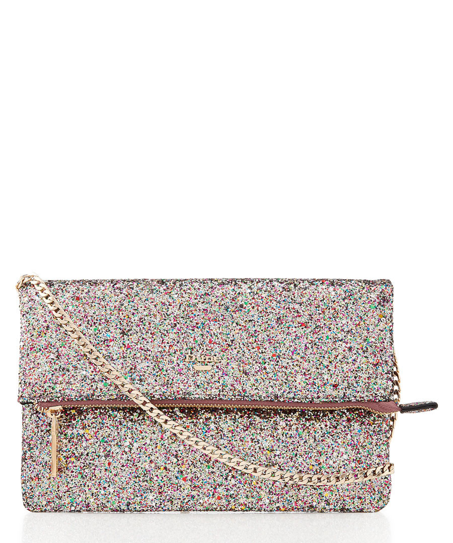 Bex multi glitter clutch bag Sale - dune