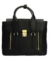 Medium Pashli black leather grab bag