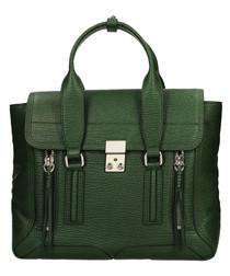 Medium Pashli jade leather grab bag