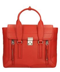 Medium Pashli red leather grab bag