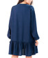 Navy V-neck relaxed fit mini dress Sale - My Favorite Dress Sale