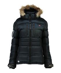 Navy padded parka coat