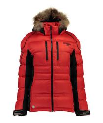 Red padded parka coat