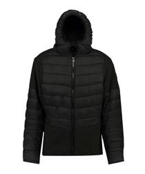 Black semi-padded puffer coat