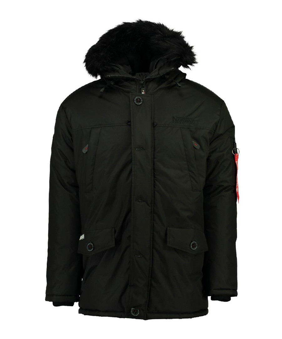 Blackout button parka coat Sale - geographical norway