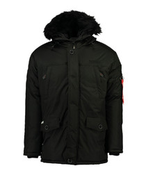 Blackout button parka coat