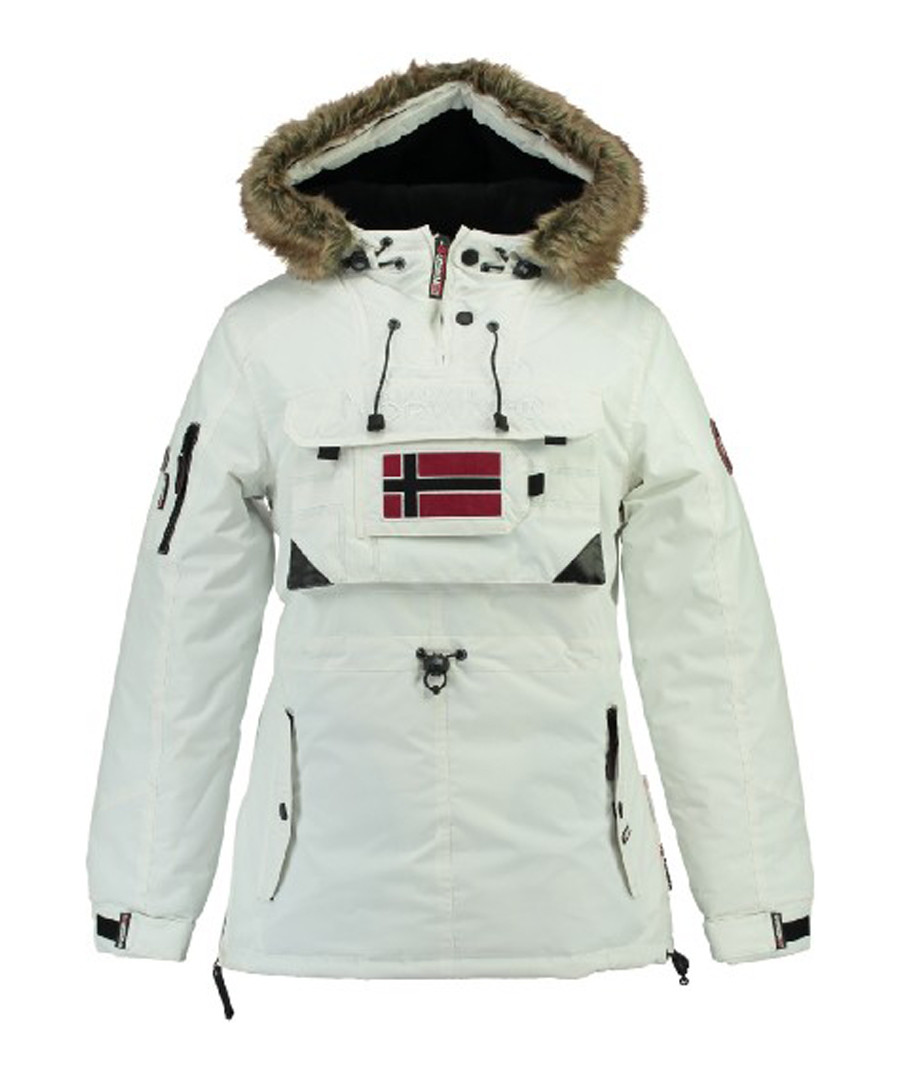 White flag parka coat Sale - geographical norway