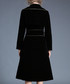 Black hem detail wrap dress Sale - Kaimilan Sale
