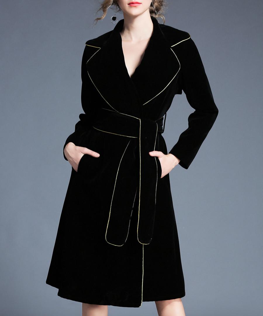 Black hem detail wrap dress Sale - Kaimilan