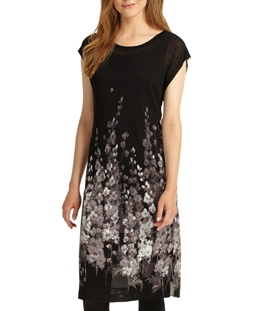 Carlotta black floral midi dress Sale - phase eight