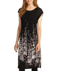 Carlotta black floral midi dress