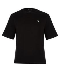 Black pure cotton logo shirt