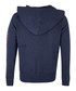 Navy cotton blend pocket hoodie Sale - true religion Sale
