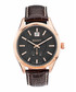 Rose gold-tone & brown leather watch Sale - gant Sale