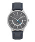 Silver-tone & navy leather watch Sale - gant Sale