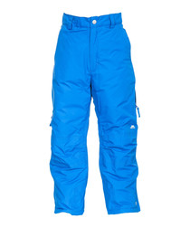 Boys' blue padded ski trousers