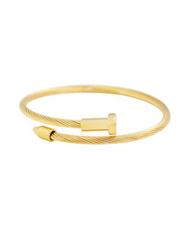 18k gold-plated bangle