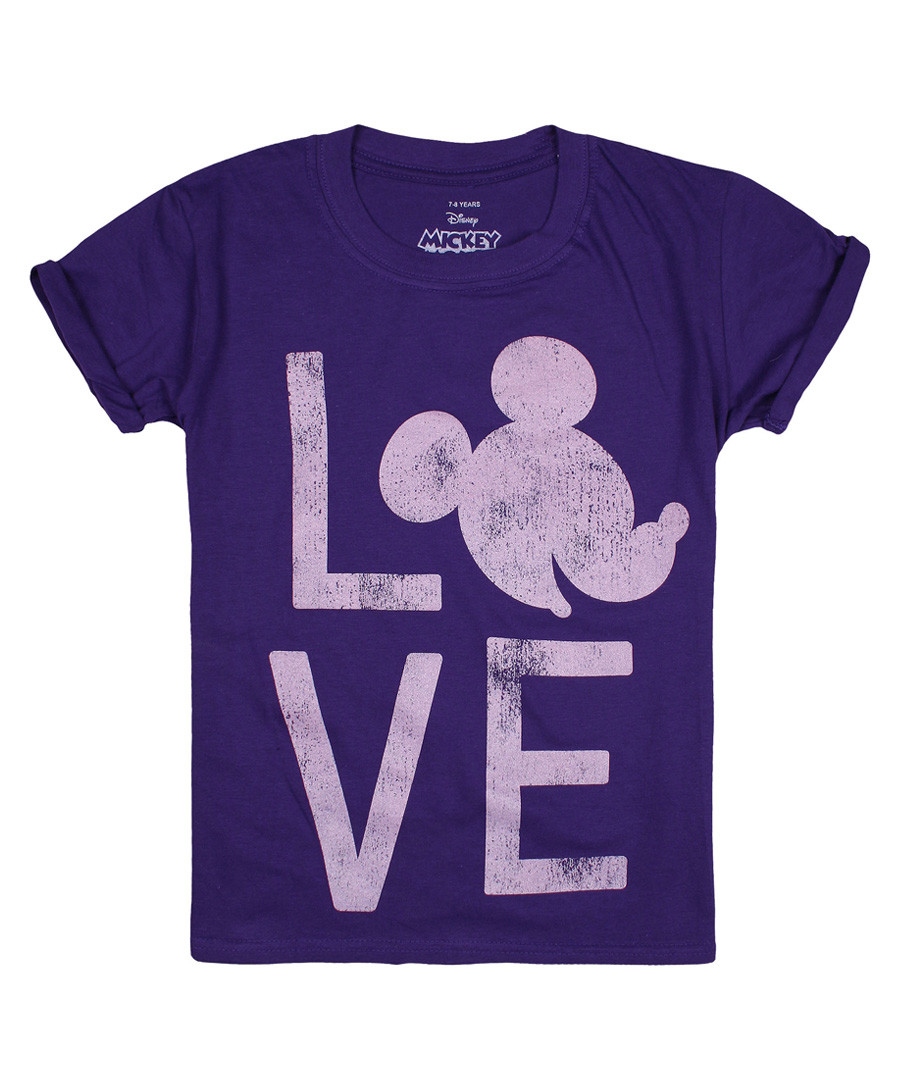 Girls' Love Mickey purple T-shirt Sale - disney