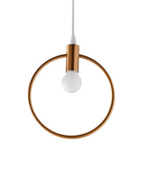 Lunar gold-tone hanging light