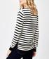 Black stripe pure cashmere jumper Sale - manode Sale