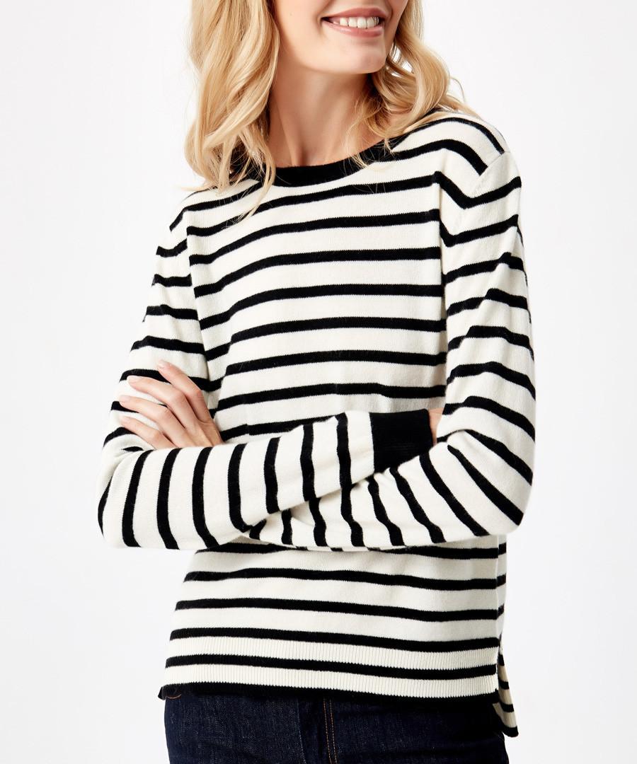Black stripe pure cashmere jumper Sale - manode