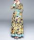 Black & turquoise wheel print maxi dress Sale - kaimilan Sale