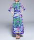 Multi-colour leaf print tie maxi dress Sale - Kaimilan Sale
