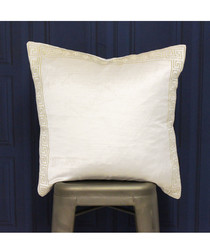 Apollo ivory & gold cotton cushion
