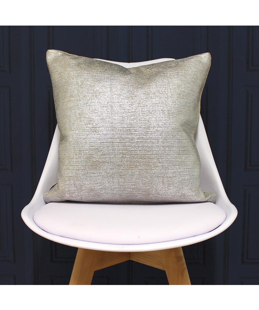 Arora silver cotton cushion 45cm Sale - riva paoletti