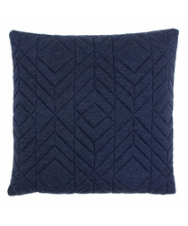 Conran navy quilted cotton cushion 45cm